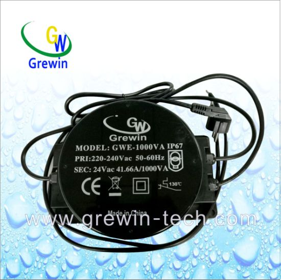 IP67 1000va Toroidal Transformer with IEC Approval