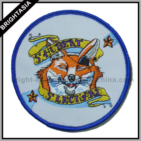 Happy Fox Iron-on Embroidery Patch for Fashion Garment (BYH-10117)