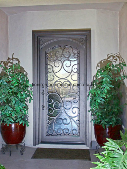 China Latest Exterior Front Safety Iron Single Door Designs China