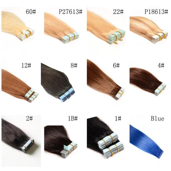 Brazilian Tape Skin Weft Human Hair Extensions Adhesive Tape in Human Hair Extension pictures & photos
