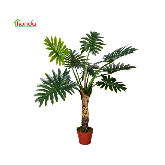 Factory Artificial Potted Decorate Plants Philodenron for Home Decoration