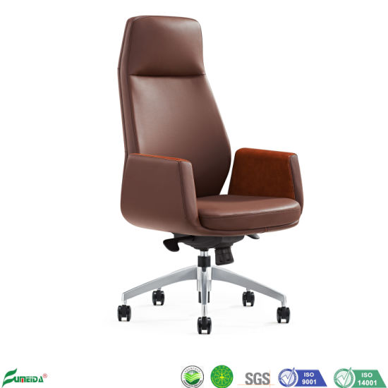 High Back Revolving Elevating PU Leather Office Conference Executive Chair