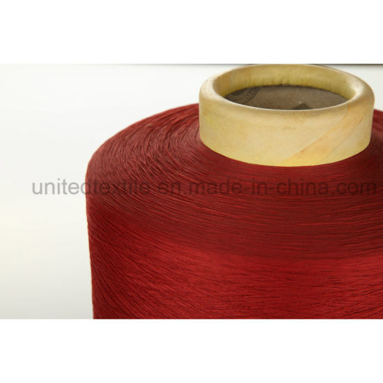 100% Polyester Dope Dyed Yarn with 300d/96f SD Him DTY pictures & photos