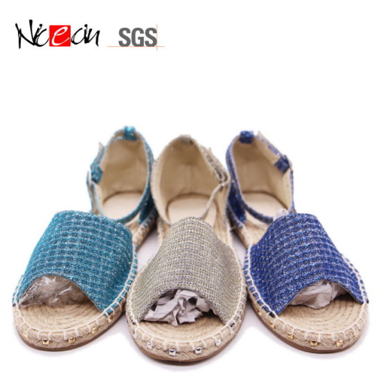 Loafer Summer Sandal Woman Wedge Scandal Espedrilles pictures & photos