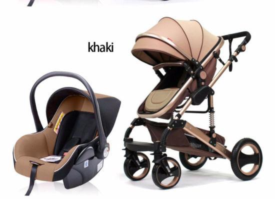 China Foldable Baby Stroller Aluminum Alloy Baby Pram Luxury Baby