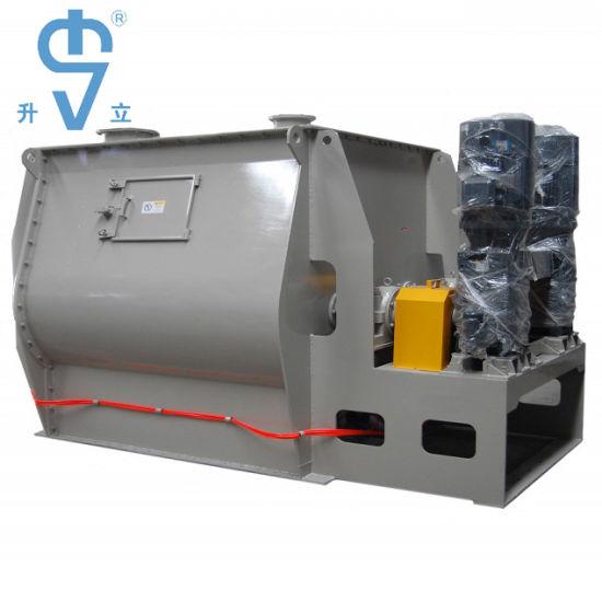 Mild Steel Twin Shaft Paddle Fertilizer / Detergent Powder Mixing Machine