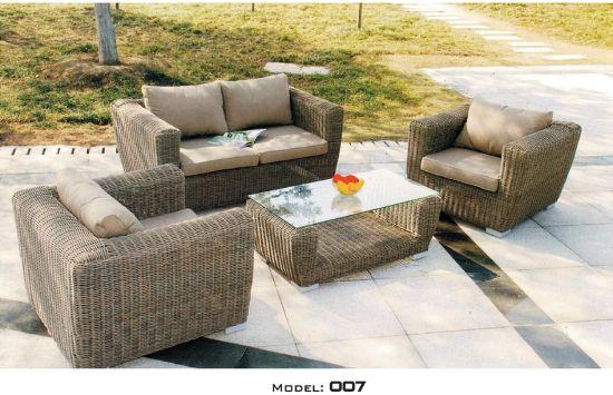 Whole Pe Woven Outdoor Rattan Sofa, Patio Sofa Table