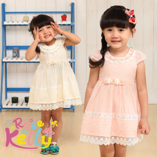 1 Years Old Birthday Party Baby Girl Dress Goods
