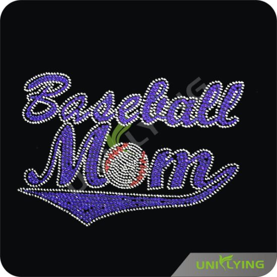 Top Selling Baseball Mom in Glitter Rhinestone Transfer Wholesaler (SP) pictures & photos