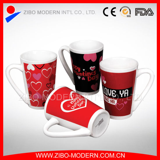 Wholesale Valentines Ceramic Gift Mug in Decal Print pictures & photos