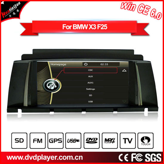 Hualingan Wholesales Price Car DVD GPS for BMW X3 F25/X4 F26 GPS DVD Naivgation pictures & photos