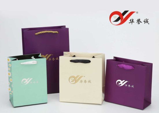 Custom Print Kraft Paper Bag with Handle Your Own Logo pictures & photos
