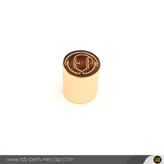 Custom Personalized Bespoke Heavy Metal Golden Zamac Perfume Cap