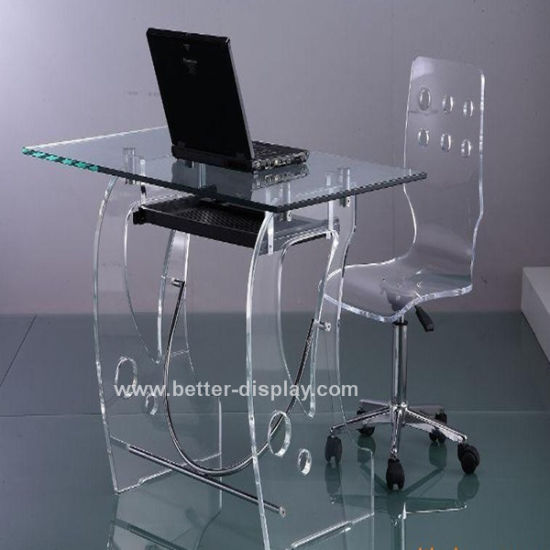 Clear Acrylic Computer Desk With Chairs Btr Q2006
