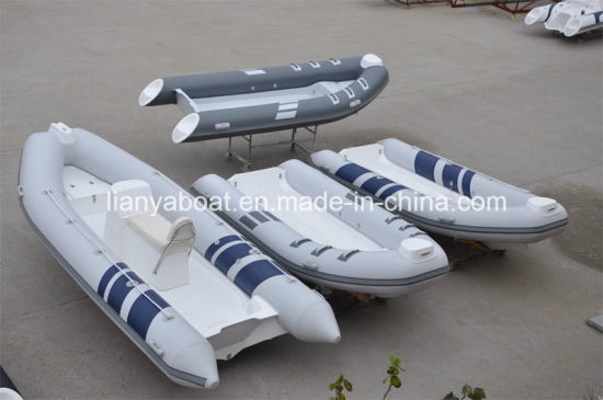 Liya 2.4m to 5.2m Rubber Rib Boat Inflatable Speed Yacht Open Floor Rib Hot Selling