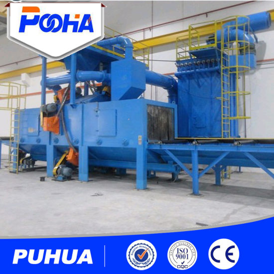 Roller Conveyor Steel Shot Blasting Machine pictures & photos