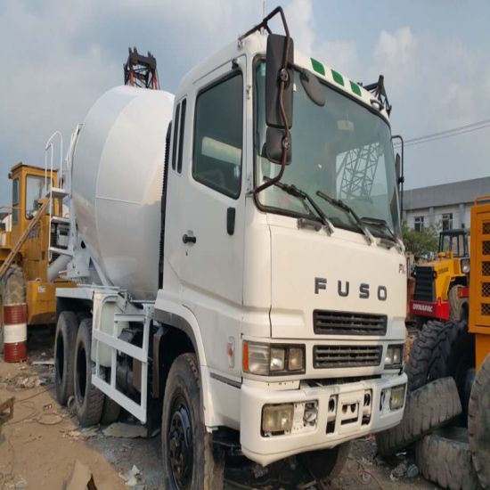 China Used Fuso Mixer Truck Repainted White Color Used