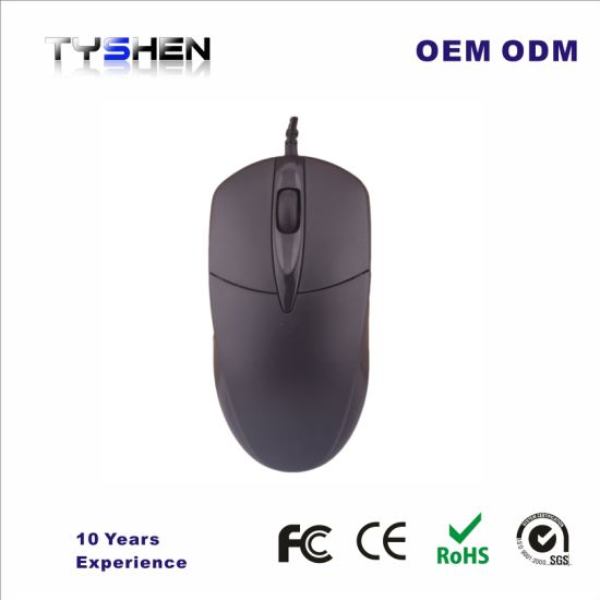 China Black Color with Medium Size 3D Optical USB Computer Mouse ...