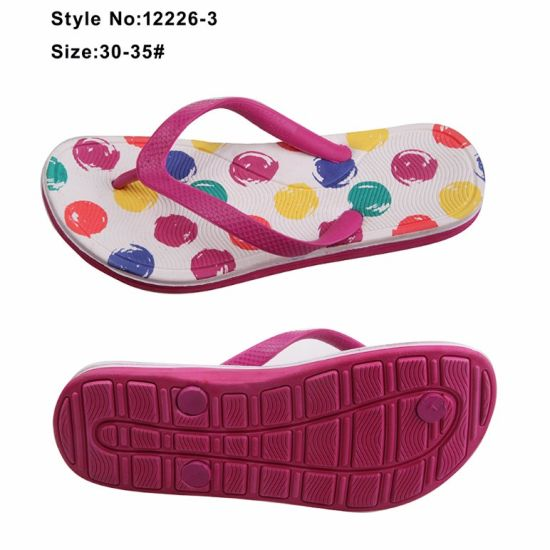 Footwear Customize Student Girls PE Flip Flops Slippers pictures & photos