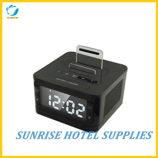 Guestroom Table Alarm Clock with USB Charging Port