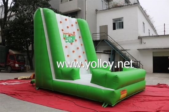 Interesting Green Inflatable Climbing Wall for Summer Holidays pictures & photos
