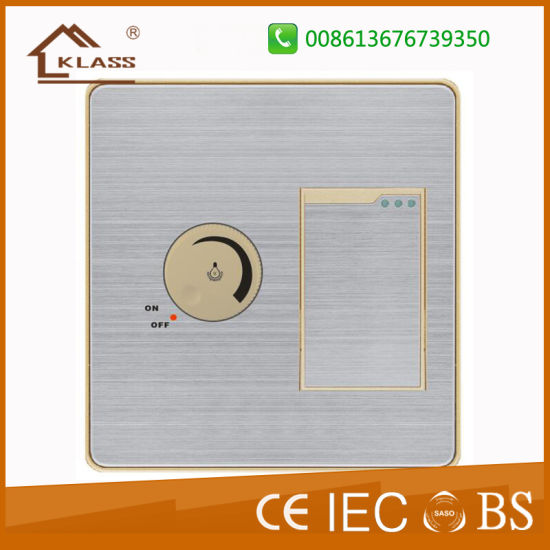 China PC White One Gang Switch with Fan Dimmer Switch