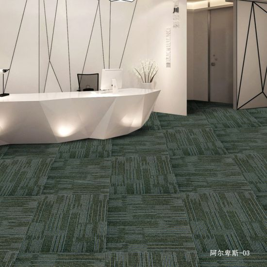 PP Jacquard Office Carpet Loop Tiles with Eco-Bitumen Backing pictures & photos