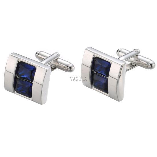 2018 VAGULA New Men Jewelry Crystal Cufflinks 392