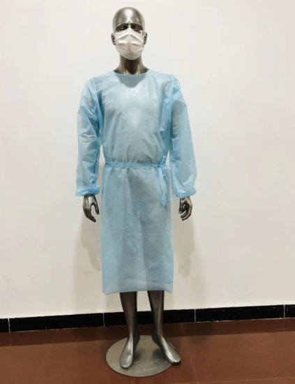 Low Price Read-to-Ship PP+PE Non-Sterile Reinforced Surgical Gowns