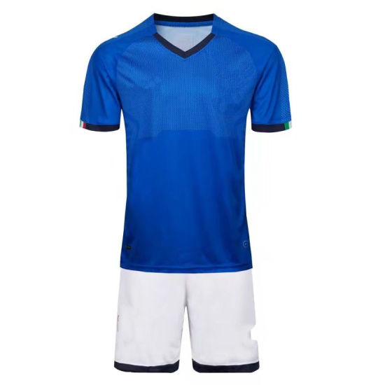 80654ea60bc Factory Wholesale Customize Polyester World Cup Italy National Football  Team Sport Jersey