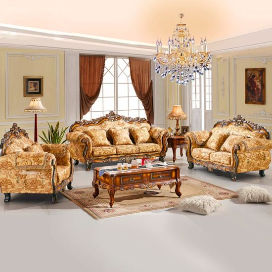 Wooden Sofa with Chaise Lounge for Living Room Furniture pictures & photos