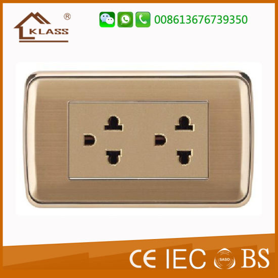 Hot Seller Gold Metal Plate 1g Satelite Socket pictures & photos