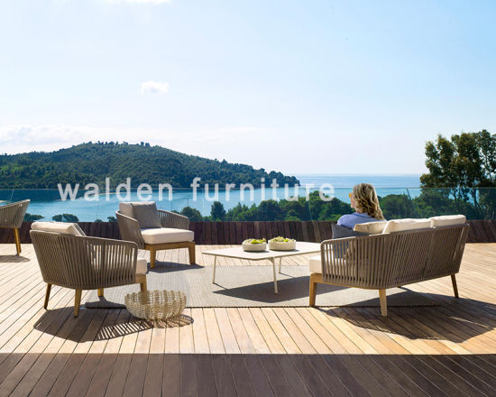 China 2018 Walden Outdoor Furniture Rope Weaving Furniture Wood