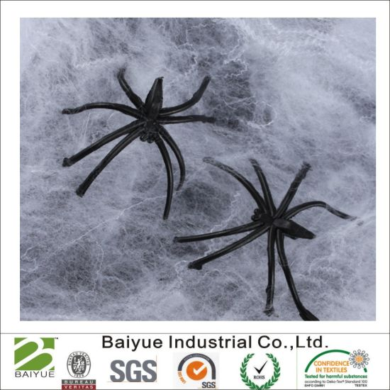 China Fake Spider Web In White Halloween Party Decorations China