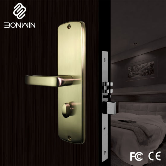 Stainless Steel Key Card Hotel Door Lock with Software pictures & photos