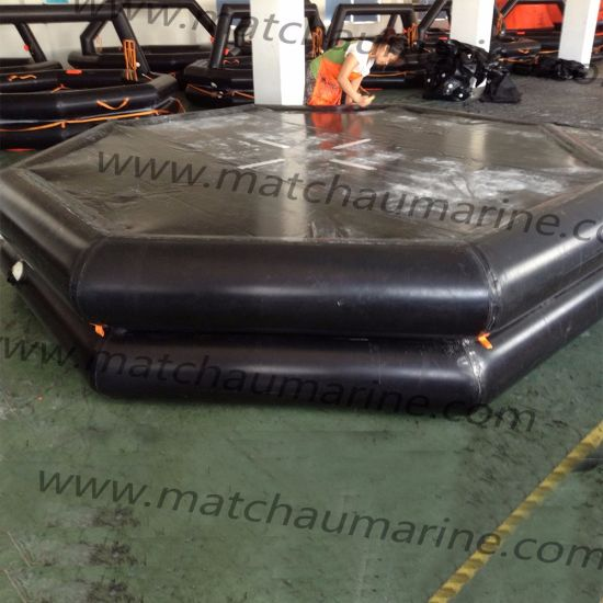 High Quality Marine Lifesaving Throw-Overboard Inflatable Life Raft pictures & photos
