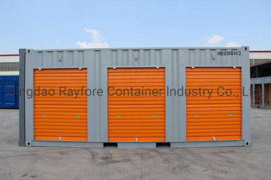 Qingdao Factory Customized Shipped to Europ and Japan 3 Shutter Roller Door Storage Container