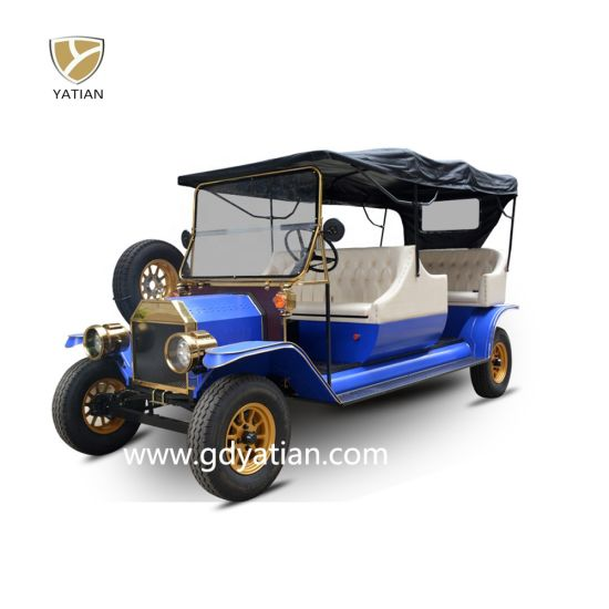 8 Passenger Vintage Electric Sightseeing Car Classic Golf Carts for Sale