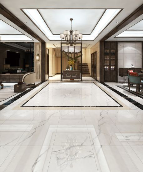 China 600*1200 and 900*1800 Kalakatar Porcelaian Marble White Wall ...