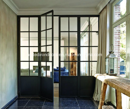 Factory Direct Interior Modern Style Wrought Iron Doors