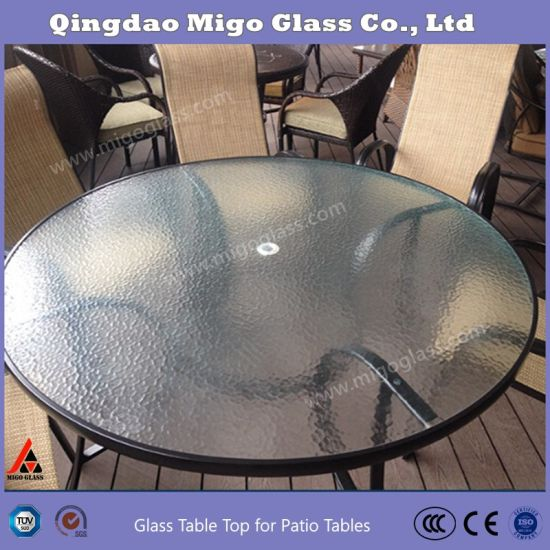 Patterned Gl Table Top For Outdoor
