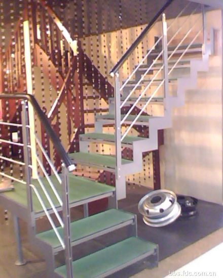 Indoor Circular Steel Glass Staircases
