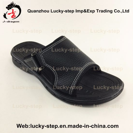 031a7a9e11bf7 China Two Color Trditional PVC Outsole Men Slipper - China Shoes ...
