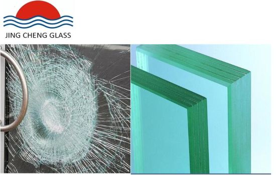 8mm+ 1.52mm PVB + 8mm Clear Tempered Laminated Safety Glass for Railing of The Building