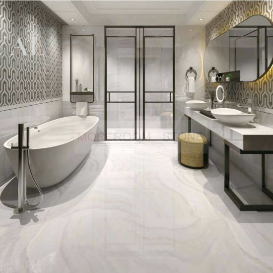 Foshan 32X32 Glazed White Onyx Effect Ceramic Porcelain Flooring