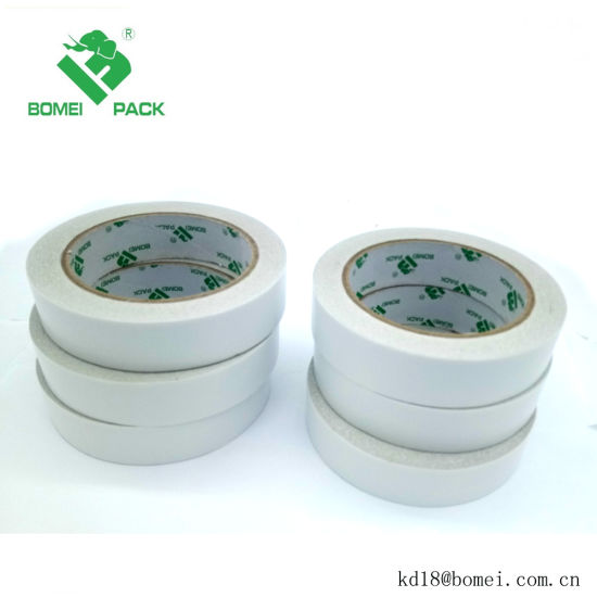 Free Sample 90 Mic Solvent Based Tissue Paper Double Sided Adhesive Tape pictures & photos