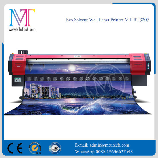 China Digital Large Format Inkjet Vinyl Eco Solvent Printer For