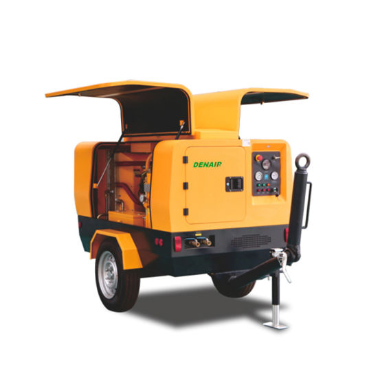 Ultra-Efficient Double-Stage Diesel Portable Screw Air Compressor