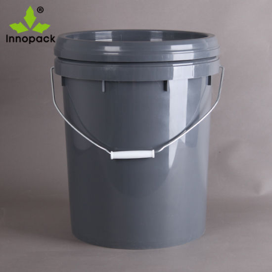 20 Liter Round Plastic Bucket with Metal Handle and Spout