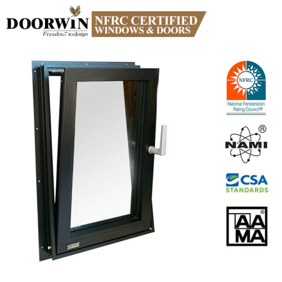 Replacement Latest Design Burglar Proof Steel Tilt-Wash Opening Tilt and Turn Aluminium Casement Windows